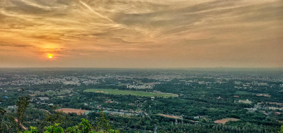 Mysore from chamundi hills