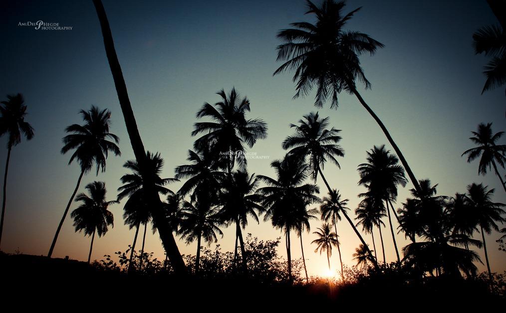 Sunset -Someshwara beach - byndoor