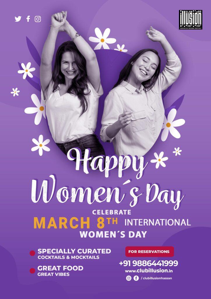 Digital-Marketing-Anudeep-hegde -Club Illusion - Hassan - womens day