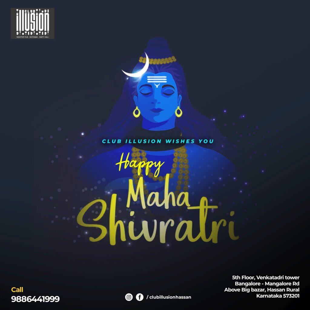Digital-Marketing-Anudeep-hegde -Club Illusion - Hassan - shivratri wishes